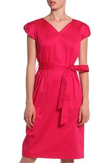 Атласное платье с поясом UNQ