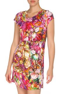 Платье с принтом и коротким рукавом Monari