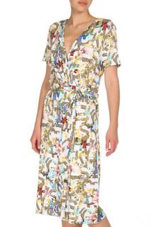 Принтованное платье-миди с запахом STEILMANN