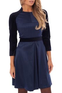 Стильное платье с круглой горловиной Gloss