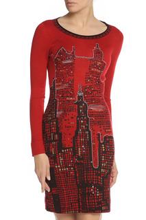 Облегающее платье с принтом Tuzzi