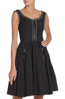 Платье с контрастными отстрочками Prada