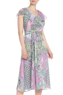 Принтованное платье-миди с запахом Gelco