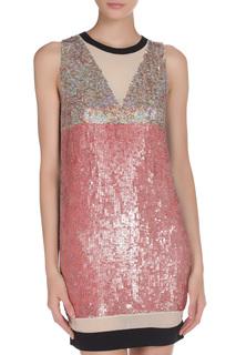 Платье-мини с паетками PINKO TAG