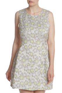 Фактурное платье без рукавов Pinko