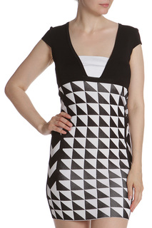 Платье с геометричным узором Pinko