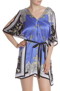 Шелковое платье с запахом, на поясе Pinko