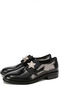 Кожаные ботинки с брошами Coliac