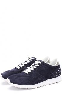 Замшевые кроссовки на шнуровке Tod's Tods