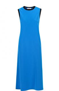 Платье-миди без рукавов с контрастной отделкой DKNY