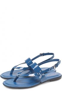 Кожаные сандалии на контрастной подошве Tod's Tods