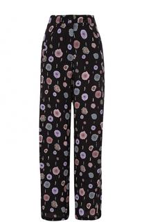 Широкие брюки прямого кроя с принтом Armani Collezioni