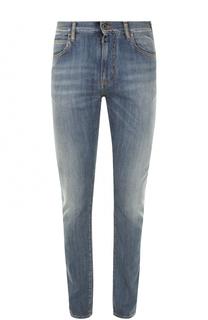 Джинсы прямого кроя с потертостями Armani Jeans