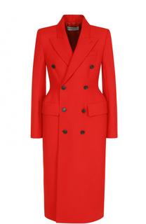 Двубортное приталенное пальто Balenciaga