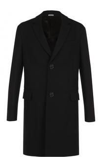 Шерстяное однобортное пальто Lanvin