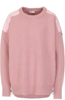 Вязаный пуловер свободного кроя Moncler