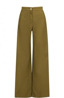 Расклешенные брюки из смеси хлопка и льна Dries Van Noten