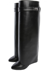Кожаные сапоги Shark Lock Givenchy