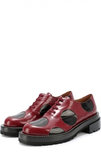 Кожаные ботинки с цветными вставками Marni