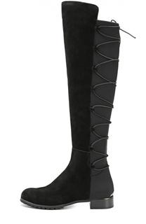 Комбинированные ботфорты на шнуровке MICHAEL Michael Kors