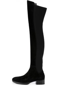 Комбинированные ботфорты на устойчивом каблуке Tory Burch