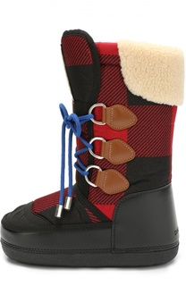 Сапоги-луноходы на шнуровке Dsquared2