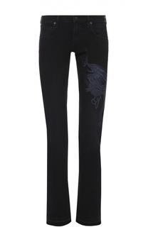 Укороченные джинсы с бахромой и вышивкой в виде дракона Citizens Of Humanity