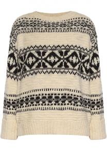 Пуловер свободного кроя с контрастным принтом Polo Ralph Lauren