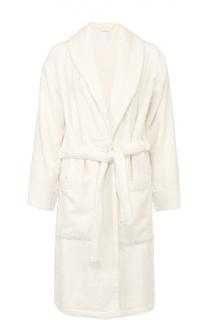 Хлопковый халат с накладными карманами и поясом La Perla