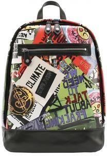 Рюкзак с принтом и отделкой из натуральной кожи Vivienne Westwood