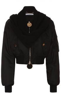 Укороченный бомбер с кашемировым шарфом Givenchy