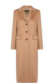 Шерстяное удлиненное пальто с широкими лацканами Escada