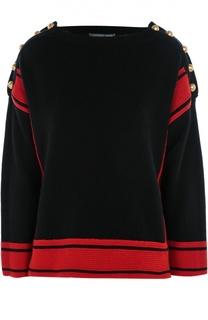 Кашемировый пуловер с декоративной отделкой Alexander McQueen