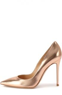 Туфли Business из металлизированной кожи на шпильке Gianvito Rossi