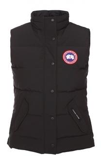 Пуховой жилет с карманами и логотипом бренда Canada Goose