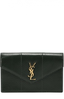 Сумка Monogram mini из кожи змеи Saint Laurent