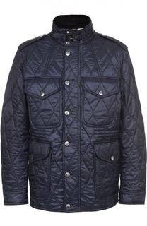 Утепленная стеганая куртка с воротником-стойкой Burberry