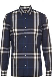 Рубашка из эластичного хлопка в клетку Burberry
