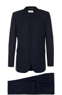 Шерстяной приталенный костюм Saint Laurent