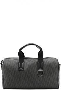 Текстильная дорожная сумка с отделкой из натуральной кожи Dior