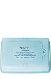 Освежающие очищающие салфетки Pureness Shiseido