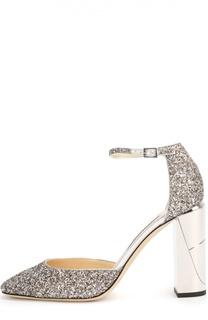 Туфли Mabel с глиттером на устойчивом каблуке Jimmy Choo