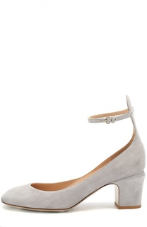 Замшевые туфли Tan-Go с ремешком на щиколотке Valentino