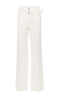 Расклешенные брюки с завышенной талией и широким поясом DKNY