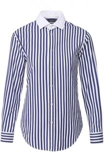 Блуза прямого кроя в контрастную полоску Polo Ralph Lauren