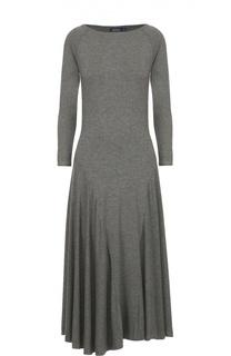 Приталенное платье с длинным рукавом и широкой юбкой Polo Ralph Lauren