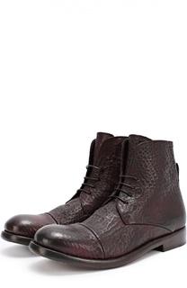 Высокие кожаные ботинки с тиснением Mauron