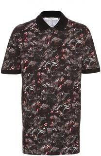 Удлиненное хлопковое поло с принтом Givenchy