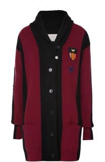 Удлиненный кардиган с накладными карманами и декоративной отделкой Stella McCartney