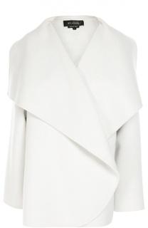 Укороченное пальто прямого кроя с широкими лацканами St. John